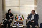 دیدار رایزن اقتصادی آفریقای جنوبی با دبیرکل اتاق تعاون ایران
