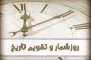 روزشمار و تقویم تاریخ :رویدادهای مهم این روز در تقویم خورشیدی ( 22 آذر 1396 )