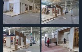 آلبوم تصویری از آماده سازی پانزدهمین نمایشگاه بینالمللی عمران و صنعت ساختمان کیش(بخش اول)