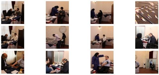 گزارش تصویری از غربالگری کرونا در اتاق تعاون